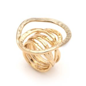 ALEXIS BITTAR • Hammered Coil Ring Gold Ring